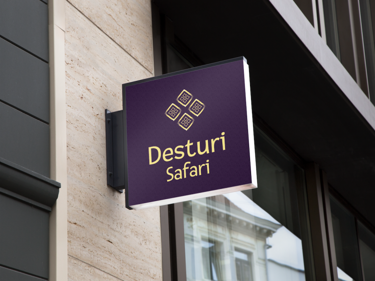 Logo Desturi Safari - Hanging Wall Sign